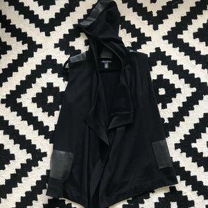 Kenneth Cole Black Drape faux leather Vest